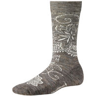 SmartWool Women's Floral Scroll Medium Cushion Crew Sock - Special Purchase
