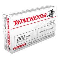 Winchester 223 Remington 62 Grain FMJ Rifle Ammo (20)