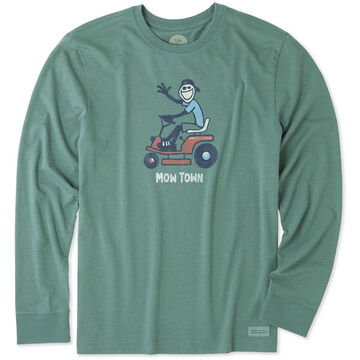 Life is Good Mens Mow Town Crusher Long-Sleeve T-Shirt