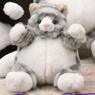 "Unipak Designs Plush 9"" Grey Cat Plumpee"