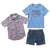 Carhartt Infant Boy's Woven Shirt Set, 3-Piece
