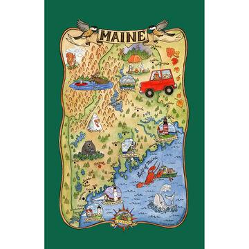 Kay Dee Designs Maine Adventure Destinations Tea Towel