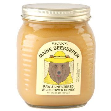 Swans Maine Beekeeper Raw & Unfiltered Wildflower Honey - 2.5 lb.