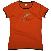 Lazy One Women's Chocolate Moose Fitted Sleep T-Shirt