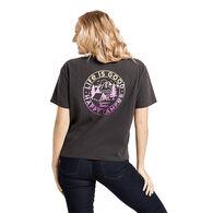 Life is Good Women's Happy Camper Retro Boxy Crusher Short-Sleeve T-Shirt