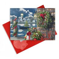 Cape Shore Deck the Dock Embellished Boxed Christmas Cards