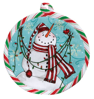 Kay Dee Designs Snowplace Like Home Snowman Pot Holder