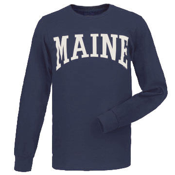 Cape Cod Textile Mens Big & Tall Maine Arch Design Long-Sleeve T-Shirt
