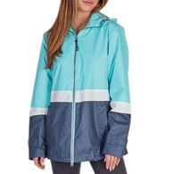 Charles River Apparel Women's Color Blocked New Englander Rain Jacket
