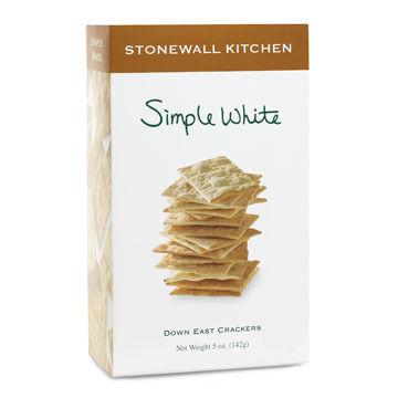 Stonewall Kitchen Simple White Down East Crackers, 5 oz.