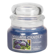 Village Candle Small Glass Jar Candle - Hydrangea