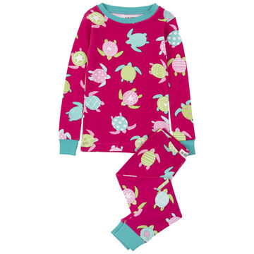 Hatley Girls Little Blue House Sea Turtles Pajama Set