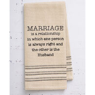 Mona B Marriage Embroidered Waffle Weave Dishtowel