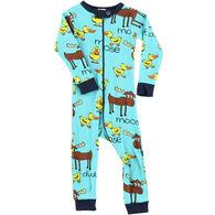 Lazy One Infant Boy's Duck Duck Moose Union Suit