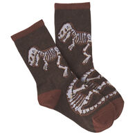 K. Bell Youth Dino Bones Crew Sock