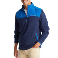 Southern Tide Men's Cottage Quarter-Zip Fleece Long-Sleeve Sweater