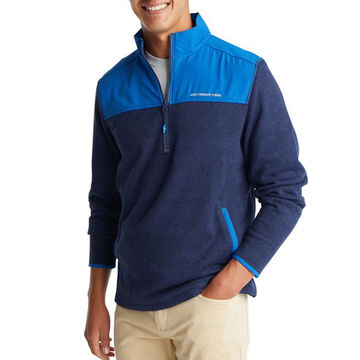 Southern Tide Mens Cottage Quarter-Zip Fleece Long-Sleeve Sweater