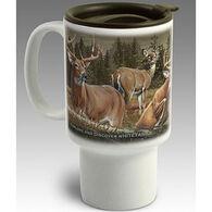 American Expedition Whitetail Deer Stoneware Travel Mug