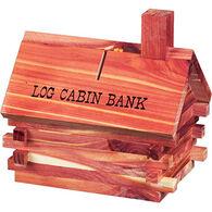 Blair Cedar & Novelty Log Cabin Bank