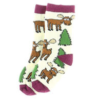 Lazy One Infant Boy's & Girl's Moose Hug Sock