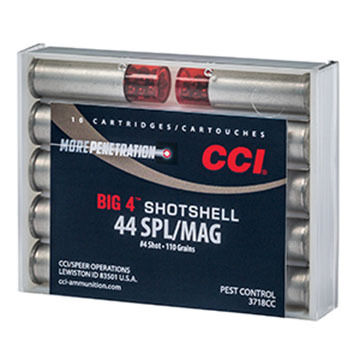 CCI Big 4 44 Special / Mag 110 Grain #4 Handgun Shotshell (10)