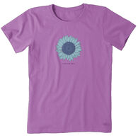 Life is Good Women's Engraved Sunflower Crusher Short-Sleeve T-Shirt