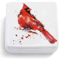 Big Sky Carvers Redhead Cardinal Lidded Vanity Box