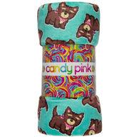 Candy Pink Bandana Dog Blanket