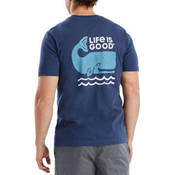 Life is Good Mens Good Whale Crusher Short-Sleeve T-Shirt