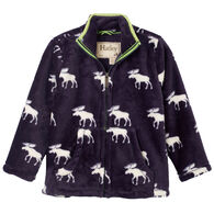 Hatley Boy's Moose Silhouettes Fuzzy Fleece Jacket