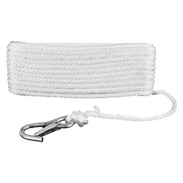 Attwood Solid Braided MFP Anchor Line w/ Spring Hook - 50 ft.