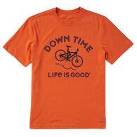 Life is Good Men's Downhill Time Crusher-Lite Short-Sleeve T-Shirt