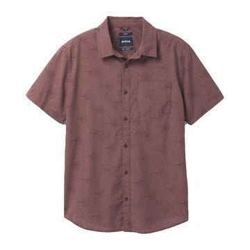prAna Mens Roots Studio Short-Sleeve Shirt - Slim Fit