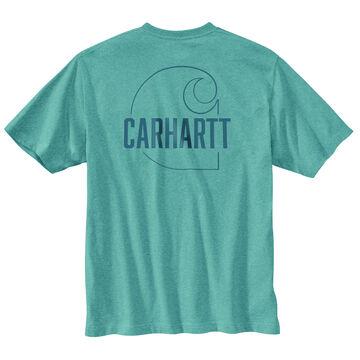 Carhartt Mens Loose Fit Heavyweight Carhartt C Graphic Short-Sleeve T-Shirt
