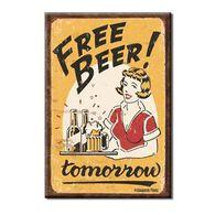 Desperate Enterprises Free Beer Tomorrow Ice Box Magnet