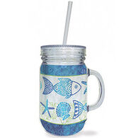 Cape Shore Beach Batik Jar Tumbler
