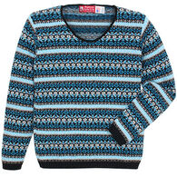 Binghamton Knitting Women's Jacquard Pullover Sweater