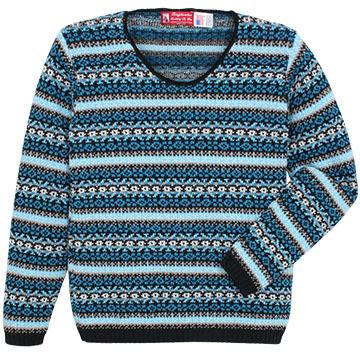 Binghamton Knitting Womens Jacquard Pullover Sweater