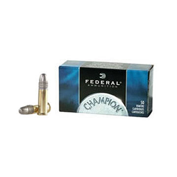 Federal Champion 22 LR 40 Grain LRN Rimfire Ammo (50)