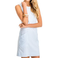 Southern Tide Women's Paislee Blue Seersucker Shift Dress