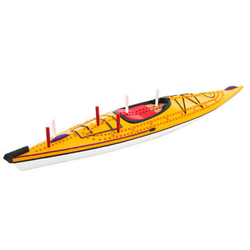 Outside Inside Kayak Cribbage Board