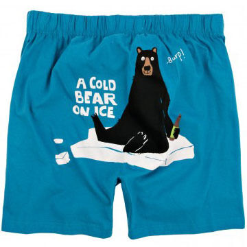 Hatley Men's Cold Bear On Ice Boxers