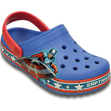 Crocs Boys & Girls Crocband Captain America Clog