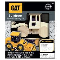 Leanin' Tree Caterpillar Bulldozer Wood Craft & Paint Kit