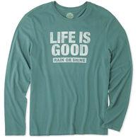 Life is Good Men's LIG Rain or Shine Long-Sleeve Smooth T-Shirt