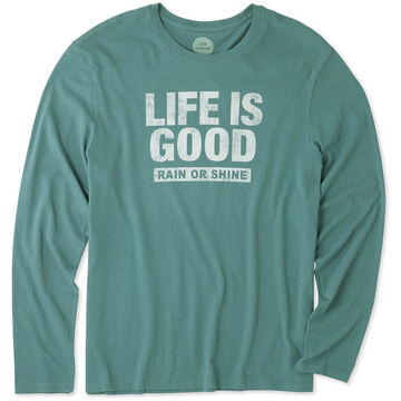 Life is Good Mens LIG Rain or Shine Long-Sleeve Smooth T-Shirt