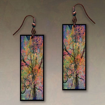 Illustrated Lights DC Designs Rectangle Earrings