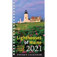 Maine Scene Lighthouses of Maine 2021 Pocket Calendar