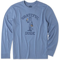 Life is Good Men's Grateful Dude Jake Crusher Tee Long-Sleeve T-Shirt