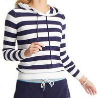 Southern Tide Women's Luis Striped Hooded Long-Sleeve Sweater